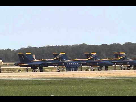2011 NAS Pax River Air Expo - USN Blue Angels (Part 1)