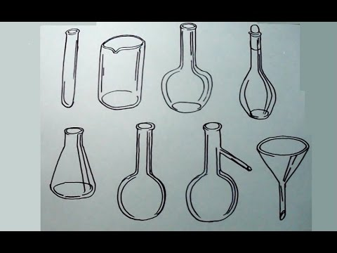 Aprende A Dibujar Elementos De Laboratorio De Química 12 Youtube
