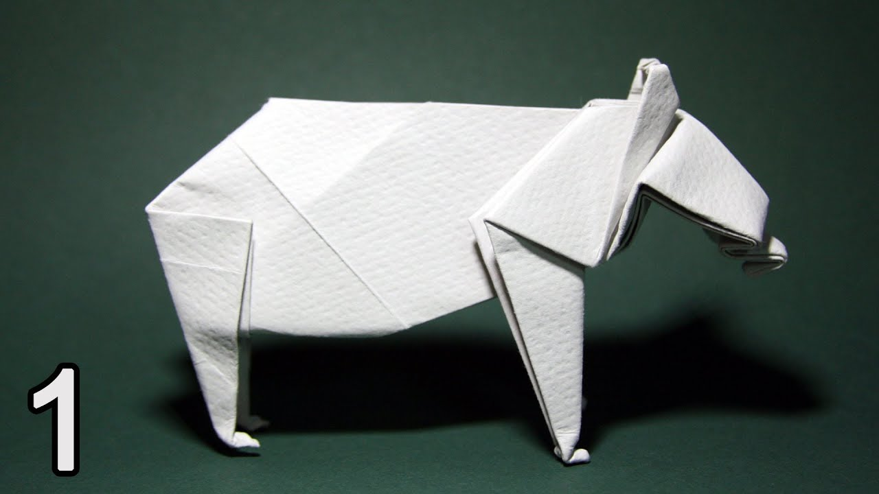 Origami Bear John Montroll Part 1 Youtube