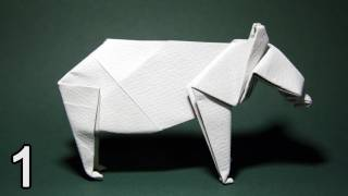 Origami Bear By John Montroll (folding Instructions) ~part One~