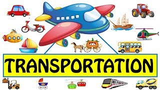 Transportation Vehicles in English | Vehicle Names | Transportation Vehicles for Kids