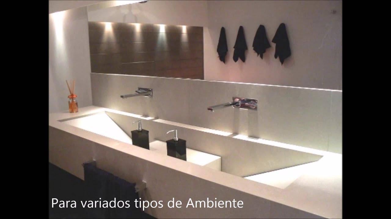 Espaço Design Decor Bancadas de Porcelanato   #945037 1920x1080 Bancadas Para Banheiro De Luxo