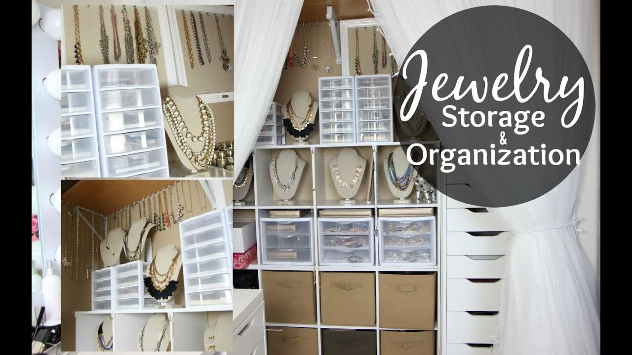 Jewelry Storage Amp Organization Closet Tour Jewelry