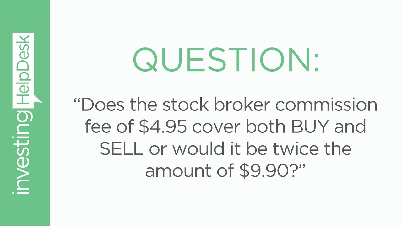How does commission work on stocks?