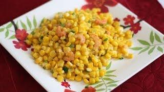 Bap Xao Tom Kho (vietnamese Stir-fry Corn And Dried Shrimp)