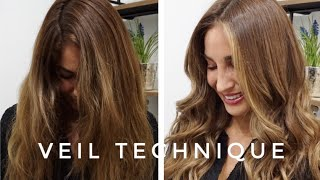 Veil Technique: Quick Face Framing Balayage for Brunettes