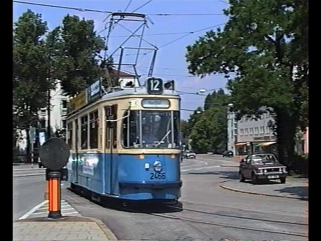 Vom Harthof zur Amalienburgstraße auf der Linie 12 mit dem M-Wagen 1992