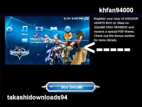 Psp kingdom hearts download.
