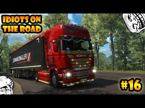 ★ IDIOTS on the road #16 - ETS2MP | Funny moments - Euro Truck Simulator 2 Multiplayer
