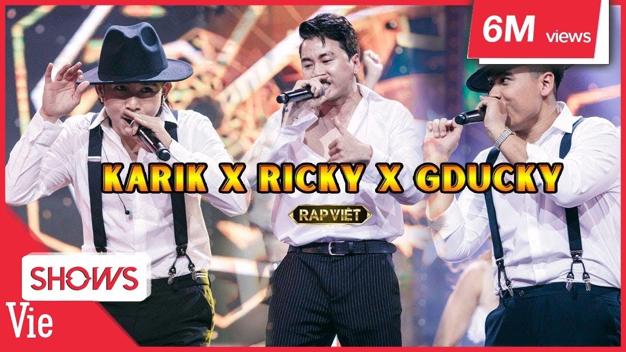 NGHẸT THỞ với SỨC NÓNG KHỦNG từ màn trình diễn của bộ 3 Karik - Ricky Star - GDucky | RAP VIỆT