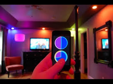 Cool Philips Hue Living Room Wireless Mood Lighting Youtube