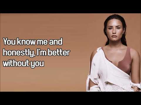 Demi Lovato ft. Lil Wayne - Lonely (Lyrics)