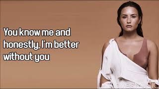 Demi Lovato Ft. Lil Wayne Lonely Lyrics.mp3