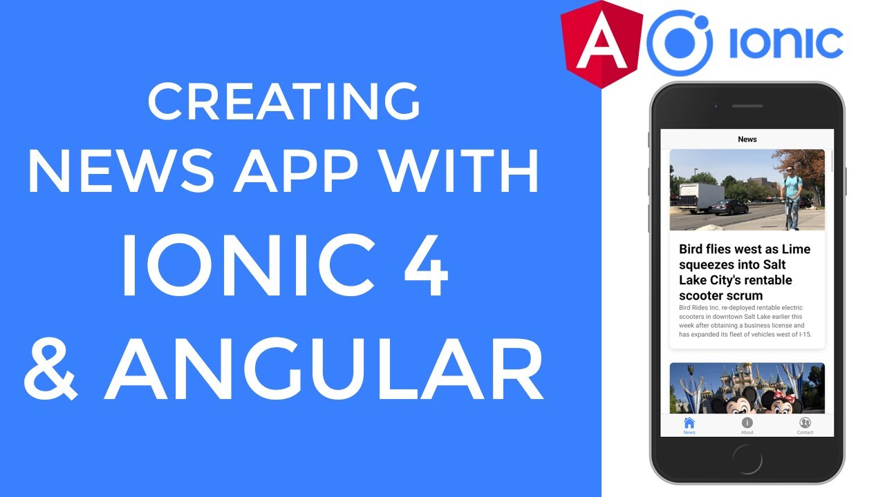 Creating News Application With Ionic 4 and Angular