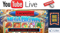 3 JACKPOT HAND PAYS Dragon's Realm $25 HIGH LIMIT Sizzling Slot Jackpots Casino Videos