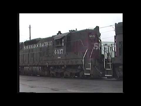 1990s SP Southern Pacific Freight Trains ~ EMD SD9 ~ Coos Bay Copper Port Terminal ~ Herzog Shipping