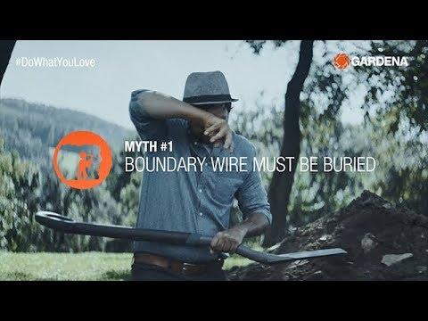 Burying boundary wire?! 🤷 - GARDENA robotic lawnmower myths