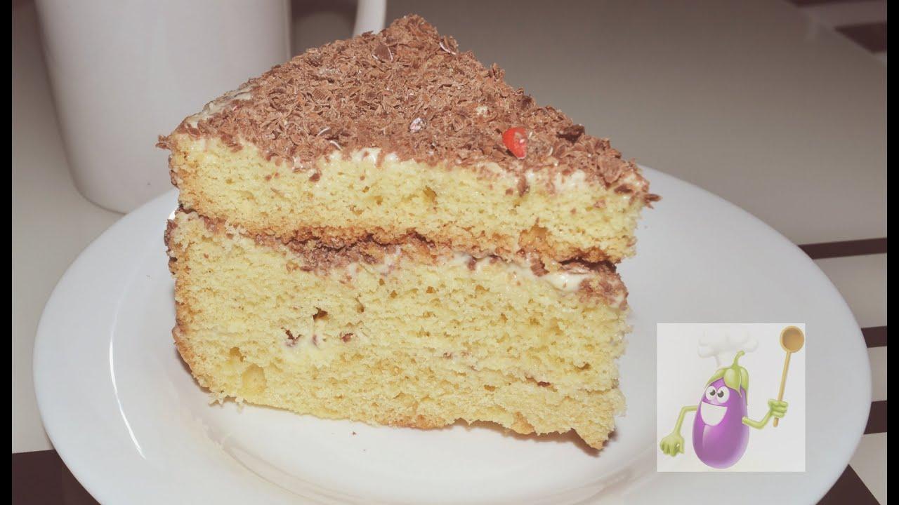 Рецепт бисквитного торта простой с фото в домашних условиях 188