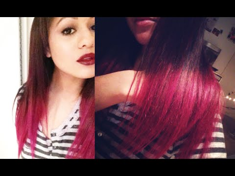How To Ombre Hair Extensions Dark Brown To Hot Pink