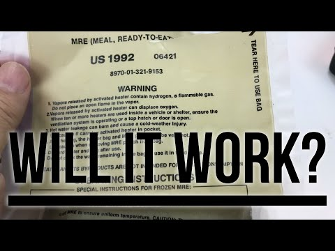 Will a 26 year old MRE flameless ration heater still work?