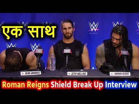Roman Reigns Interview After Dean Ambrose Break Up Shield   Roman Said I Will Beat Brock Lesnar Raw