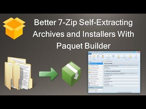 Paquet Builder - Free Installer Software and 7-zip Self