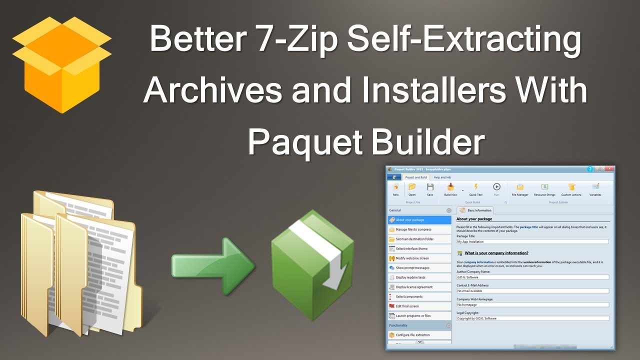 Paquet Builder - Free Installer Software and 7-zip Self-Extracting