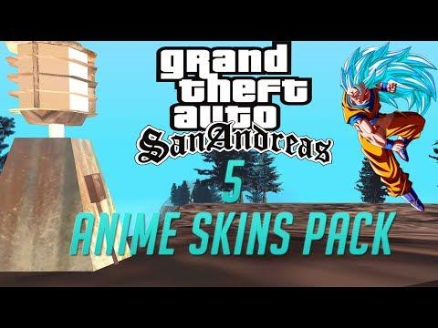 GTA San Andreas 5 Anime Skin Pack +( Download)