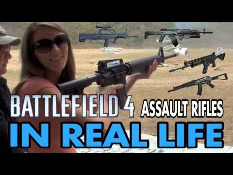 BATTLEFIELD 4 WEAPONS IN REAL LIFE - Assault Rifles