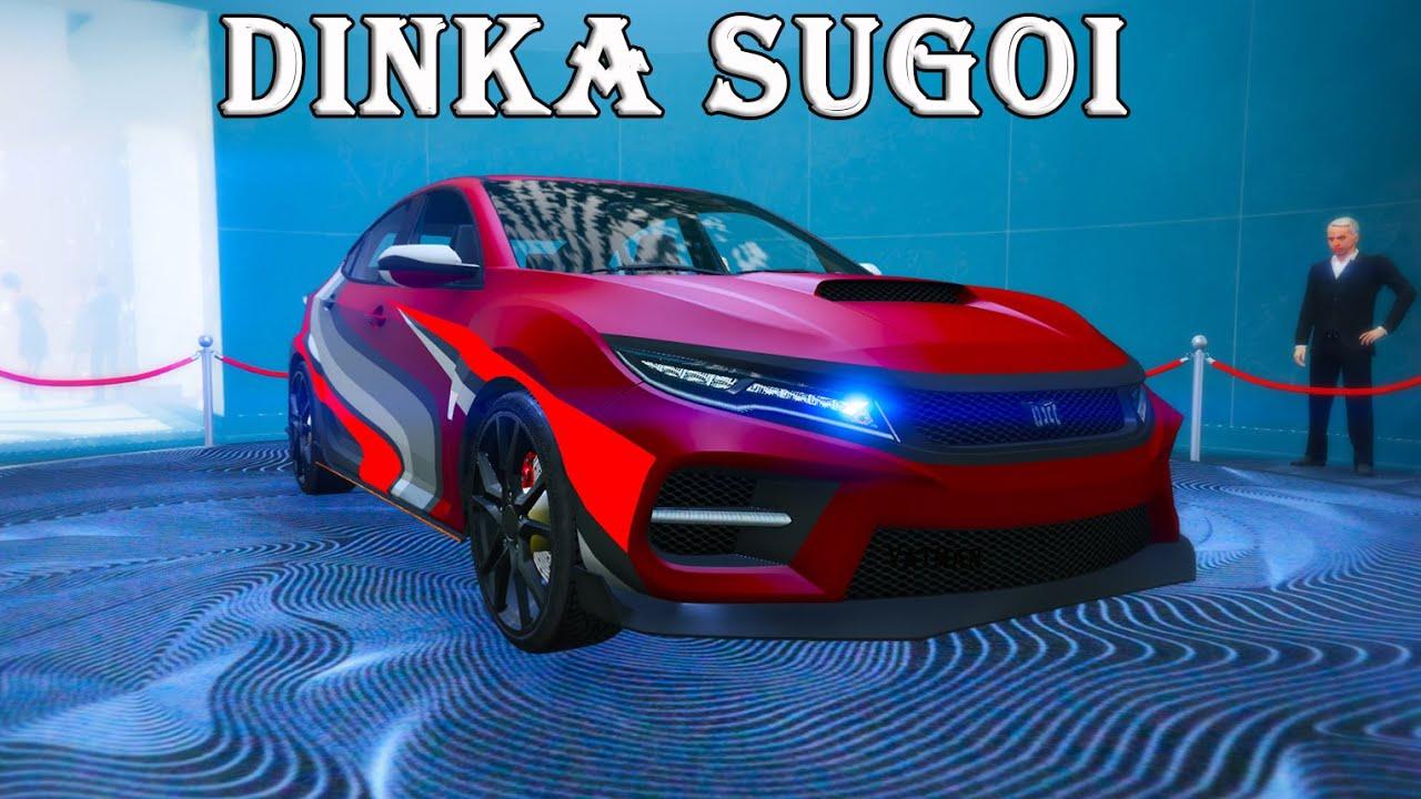 Dinka Sugoi. Машина на подиуме казино. Гонки со зрителями в GTA Online.
