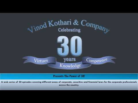 Lecture 1 | Significant Beneficial Owners | Power of 30 | Vinod Kothari & Company