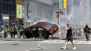 Source: Driver in Times Square incident is robbery suspect