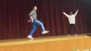 13-Year-Old Dances With Teacher During High School Talent Show thumbnail