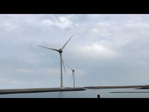 Massive wind turbines on the Netherlands Coast 1