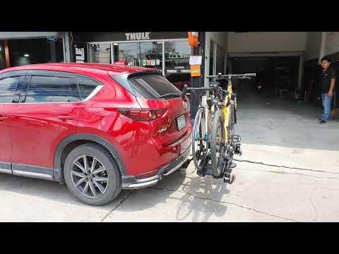 Mazda CX5 แร็คจักรยานท้ายรถ thule velocompact 925 บรรทุกจักรยาน 2 คัน + ชุดลากเรือ Mazda CX5