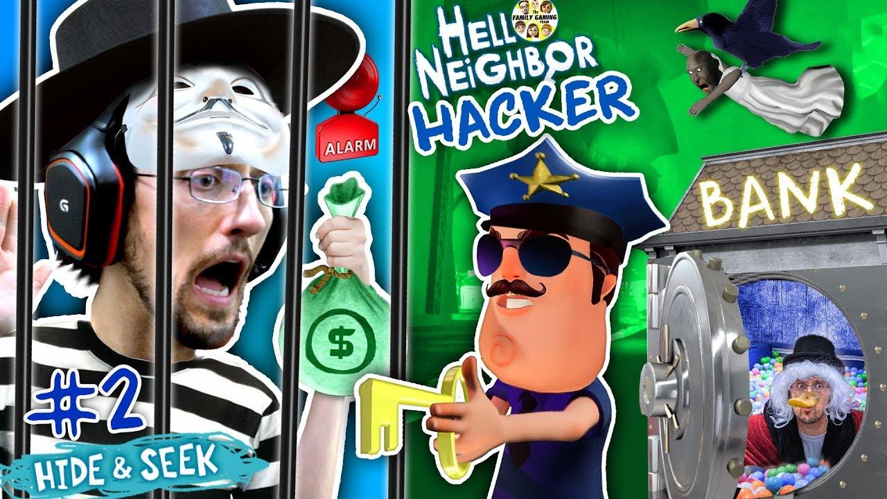 HELLO NEIGHBOR COPS & ROBBERS! FGTEEV Hide N Seek #2 (GRANNY watches Marts kids)
