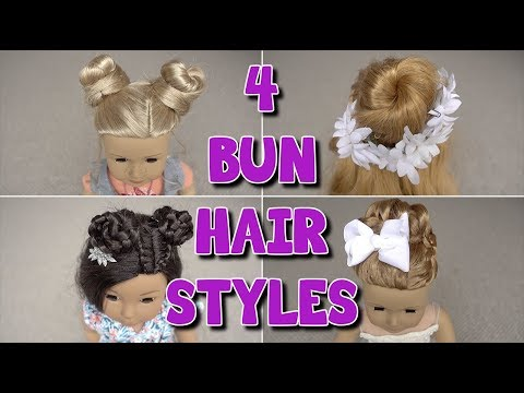 4 Different Bun Hairstyles for Your Dolls | Grace's Room