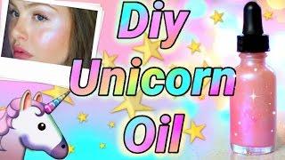 "DIY ""UNICORN OIL"" illuminating glow elixir"