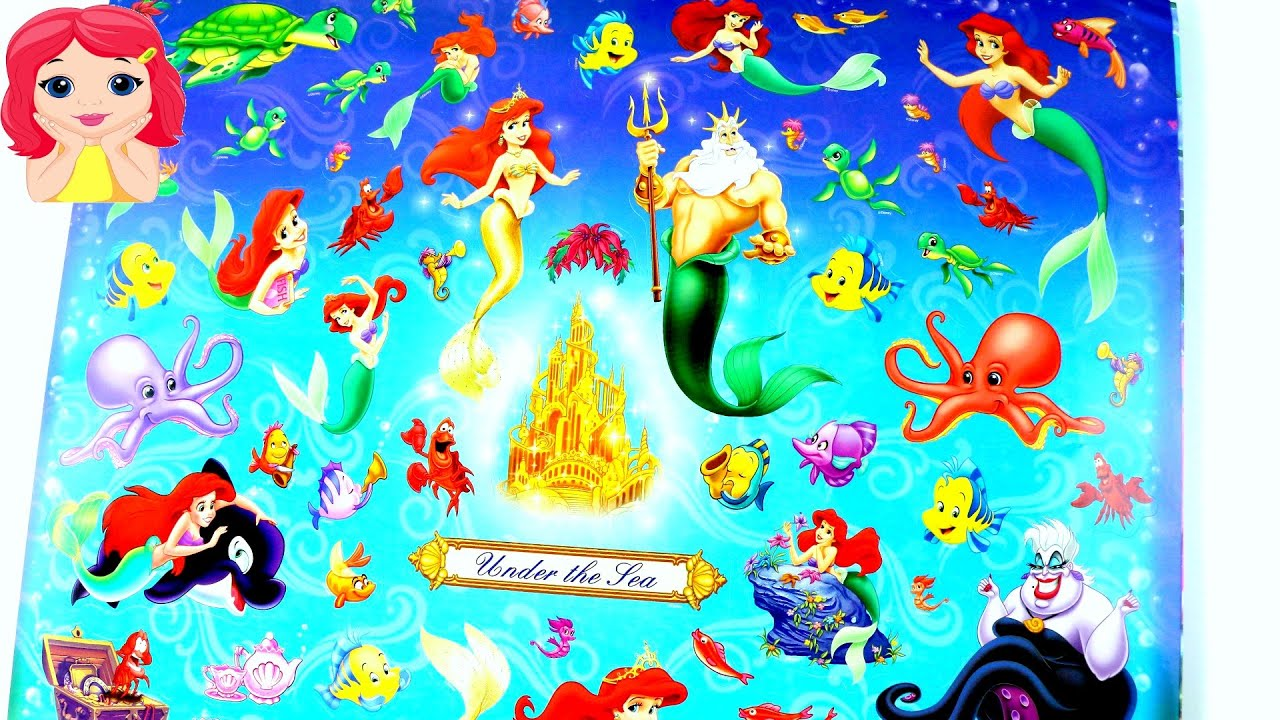 JUGUETES Libro Gigante de Princesas Disney Actividades Para Niños ...