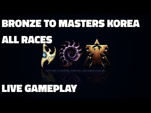 Bronze to Masters Korea! - Plat 2 to Diamond 3 (Terran, Zerg, Protoss - Live Gameplay/Guide!)
