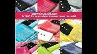 b5daa8d403 Chikankari Style Cotton Suits   3 Top 1 Bottom Salwar Kameez Dress  Materials - Duration: 40 seconds.