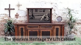 Tv Lift Cabinet - 100% Barnwood From Western Heritage Furniture