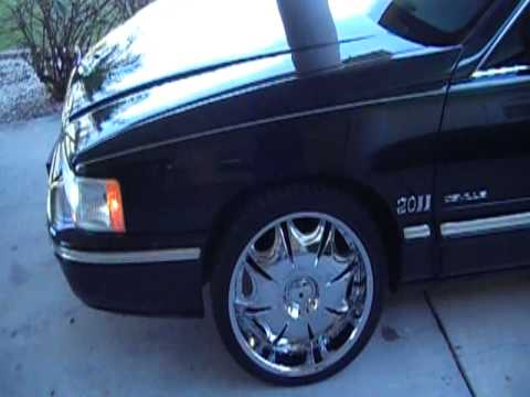 97 cadillac deville on 20s walkaround youtube. Black Bedroom Furniture Sets. Home Design Ideas