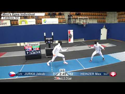 Every Touch From The Berne Men's Epee World Cup 2017 T64 - T8