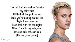 Ed Sheeran & Justin Bieber - I Don't Care  Lyrics
