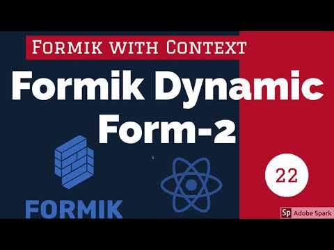 React Formik Dynamic Forms Part 2 #24
