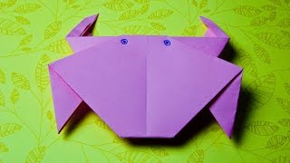 How to make a paper crab origami easy