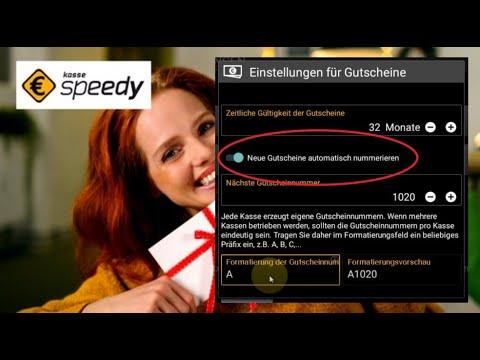 #Anwendung - Mit Kasse Speedy Gutscheine Einrichten Und Verwalten - Teil 3) Autom. Nummerierung