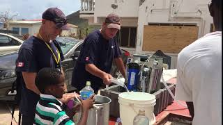 The Rapid Response Team delivers clean water to victims of Hurricane Irma
