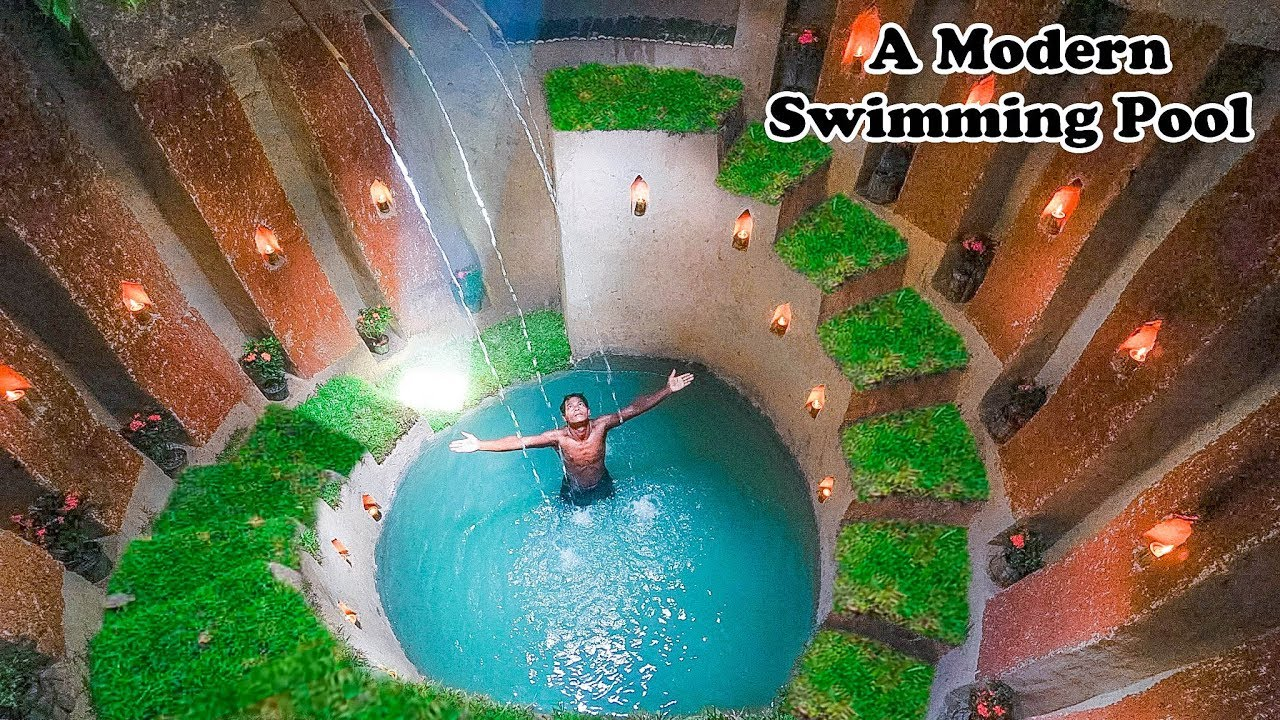 Amazing Building Compilation! Build The Most Modern Underground Swimming Pool with Underground House